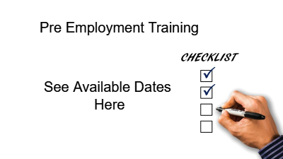 Pre employment training